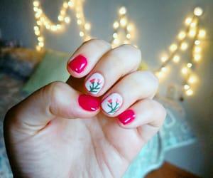 fairy lights, nails, and summer nails image