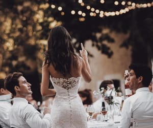 bride, lights, and wedding image