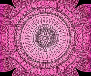 pattern, pink, and sparkle image