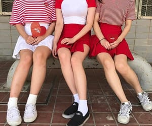red, style, and fashion image