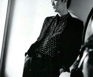black and white, Chan, and handsome image