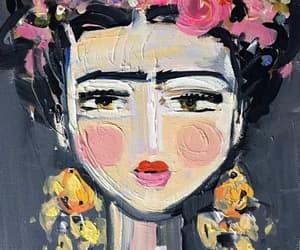 art, painting, and Frida image