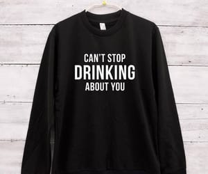 drinking, funny, and ugly sweater image