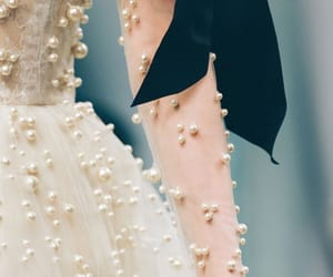 pearls, bow, and fashion image