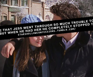 gilmore girls, jess, and rory image