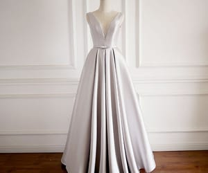 long dress, prom dress, and ruffle dress image