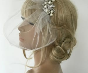 bridal veil, etsy, and hair image
