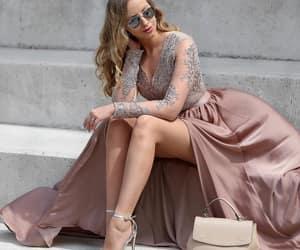 dress, fashion, and maxi image