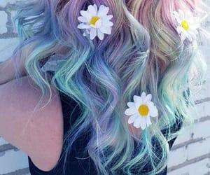 hair, unicorn, and summer image