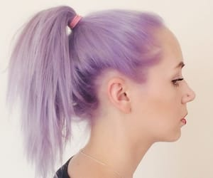 color hair, colorful hair, and lilac image