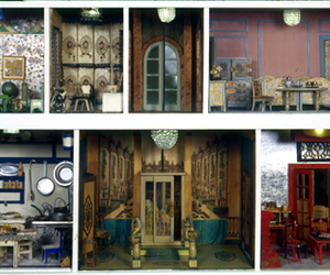 doll house, dollhouse furniture, and dollhouse image