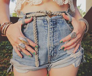 belts, nails, and fashion image