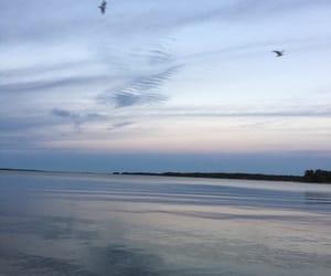 blue, peaceful, and sea image
