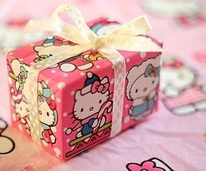 gift, hello kitty, and present image