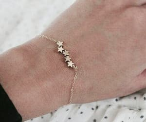 stars, bracelet, and gold image