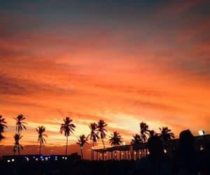 sunset, orange, and sky image