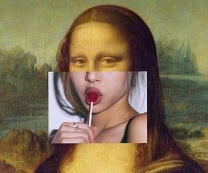 art, mona lisa, and painting image