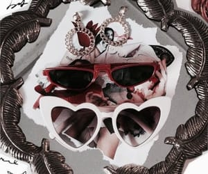sunglasses, red, and vogue image