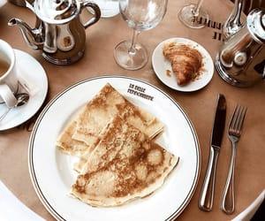 breakfast, pancake, and tea image