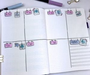 journal, journaling, and mood tracker image