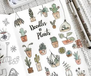 plants, doodle, and bullet journal image