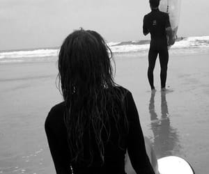 girl and boy, summer, and surf image