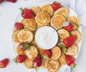 food, fruit, and pancake image