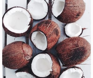 coconut, fruit, and summer image