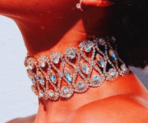 aesthetic, choker, and glam image