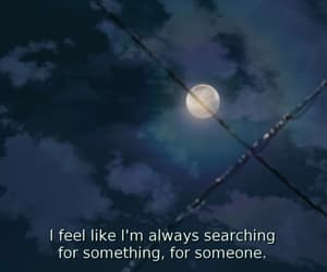 quotes, moon, and alone image