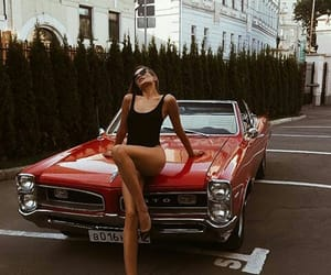 car, girl, and model image