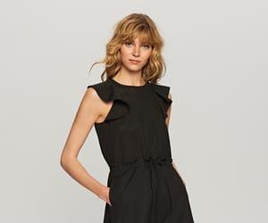 black dress, eyelet, and broderie image