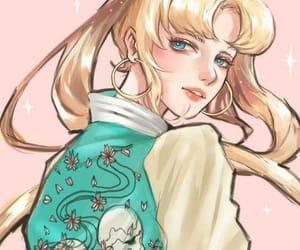 aesthetic, blond hair, and serena tsukino image