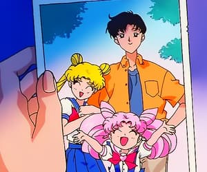 90s, sailor moon, and serena tsukino image