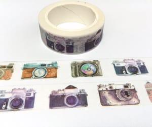 polaroid camera, travel sticker, and travel gift image
