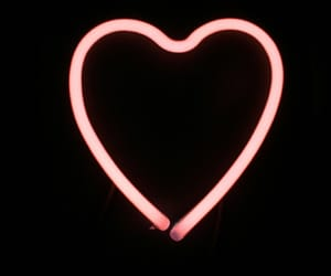 glow, heart, and neon image
