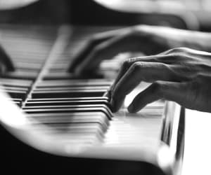 piano, music, and black and white image