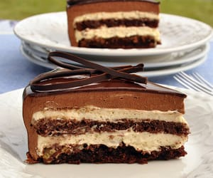 chocolate, cake, and cream image