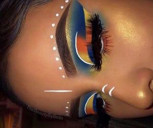 colorful, makeup, and eyeshadow image