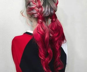alternative, braids, and red image