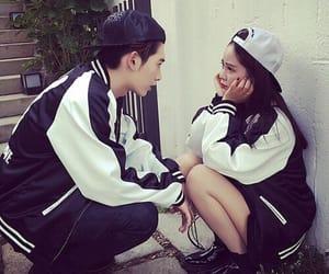 couple, ulzzang, and asian couple image
