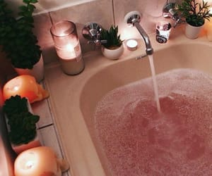 bath, pink, and self love image