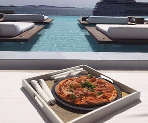 luxury, pizza, and view image