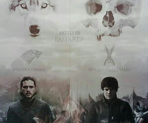 game of thrones, jon snow, and ramsay bolton image