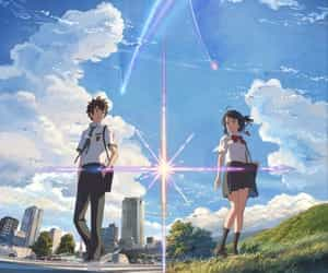 anime, article, and your name image