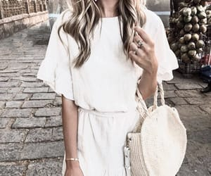 fashion, bag, and blonde image