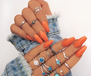 nails, style, and orange image