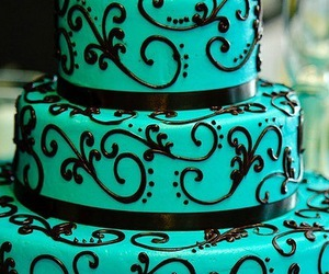cake, blue, and food image