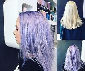 color hair, hair, and purple hair image
