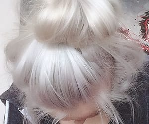color hair, colorful hair, and silver hair image